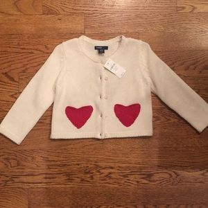 Brand new baby gap knit heart sweater